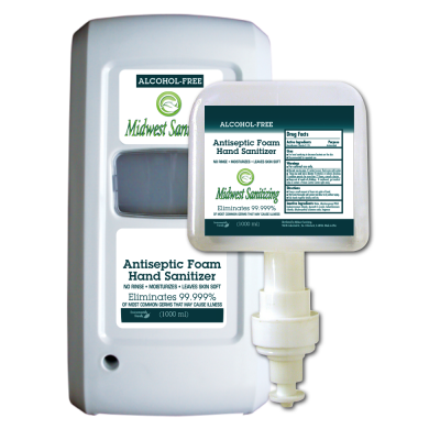 Midwest Sanitizing 1000ML Foam Hand Sanitizer  Dispensers